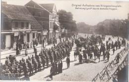 Lyck Hauptstrasse Elk Befreiung Durch Deutsche Truppen Pickelhaube Original Aufnahme V Kriegsschauplatz WW I 1914 TOP-Er - Ostpreussen