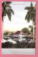 NED.INDIE PWS ANSICHTKAART KANDY LAKE & LIBRARY 2 1/2CT SABANG > EINDHOVEN SEAPOST Ca. 1924 - Indes Néerlandaises
