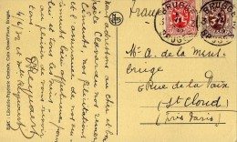 1330  Postal Brugge Bruges 1932 Bélgica - Bélgica
