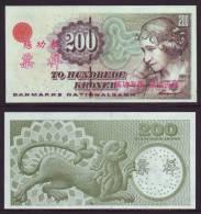 (Replica)China BOC (bank Of China) Training/test Banknote,Denmark Danmark 200 Kroner Note Specimen Overprint - Denmark