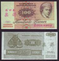 (Replica)China BOC (bank Of China) Training/test Banknote,Denmark Danmark 100 Kroner Note Specimen Overprint - Denmark