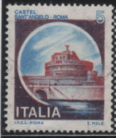 21214  Italia 1980  Castelli D'Italia  Castel S. Angelo   £  5  Usato - 1971-80: Usati