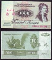 (Replica)China BOC (bank Of China) Training/test Banknote,Denmark Danmark 1000 Kroner Note Specimen Overprint - Denmark