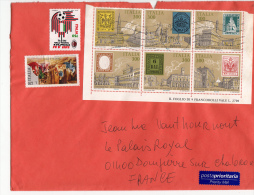 Lettre ITALIE. 8 TIMBRES  /6000 - Italia