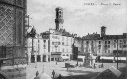 [DC6933] VERCELLI - PIAZZA C. CAVOUR - Old Postcard - Vercelli