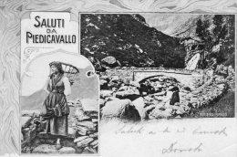 [DC6944] PIEDICAVALLO (VERCELLI) - SALUTI DA - PONTE DEL PIANLIN - Viaggiata 1904 - Old Postcard - Vercelli