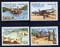 LAOS 1984 9th Anniversary Of The Republic Set Of 4 MNH / **.  Sc. 608-11 - Laos
