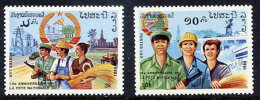 LAOS 1985 10th Anniversary Of The Republic Set Of 2 MNH / **.  Sc. 673-74 - Laos