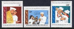LAOS 1989 Nehru Birth Centenary Set Of 3 MNH / **.  Sc. 946-48 - Laos