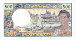 Polynésie Française - 500 FCFP - Alphabet M.013 / 2010 / Signatures Vienney-Landau-Besse - Neuf  / Jamais Circulé - Papeete (Polynésie Française 1914-1985)