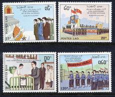 LAOS 1990 15th Anniversary Of The Republic Set Of 4 MNH / **.  Sc. 990-93 - Laos
