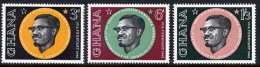 GHANA 1962 Lumumba Commemoration  Set Of 3 MNH / **.  Sc.118-20 - Ghana (1957-...)