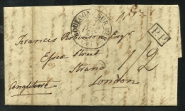 1832 ENTIRE LETTER BOULOGNE SUR MER To LONDON - Postmark Collection (Covers)