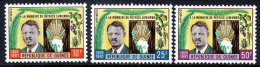 GUINEA 1962 Lumumba Commemoration  Set Of 3 MNH / **.  Sc.75-77 - Guinea (1958-...)
