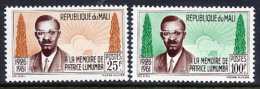 GUINEA 1962 Lumumba Commemoration  Set Of 2 MNH / **.  Sc.33-34 - Mali (1959-...)