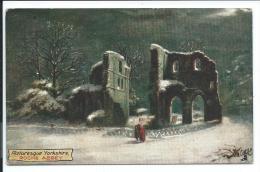Roche Abbey, Tuck 7738, écrite En Janvier 1910, Oilette, Bon état, Le Texte Au Dos Fait Référence Aux Crues De La Seine. - Inglaterra