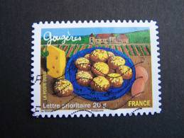 OBLITERE FRANCE ANNEE 2010 N° 435 GOUGERES SERIE SAVEURS DE NOS REGIONS AUTOCOLLANT ADHESIF - France