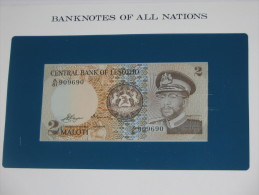 2 Malotis Maloti - Central Bank Of Lesotho   - Billet Neuf - UNC  !!! **** ACHAT IMMEDIAT *** - Lesotho