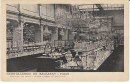 Cristalleries De Baccarat Paris Crystal Glassware Store Interior View, Advertisement, C1900s Vintage Postcard - Vari
