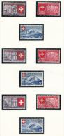 SUISSE Mi.nr.: 335-343 Schweizerische Landesausstellung Zürich 1939 OBLITÉRÉS-USED-GEBRUIKT - Suisse