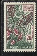 FRENCH POLYNESIA POLINESIA FRANCESE POLYNESIE FRANCAISE 1965 School Canteen Program 20 F PROGRAMMA MENSA SCOLASTICA MNH - Polinesia Francese