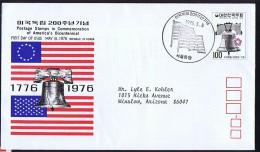 1976  USA Bicentennial  Liberty Bell  Sc 1037 FDC - Corée Du Sud