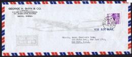 1962  Airmail Letter To USA  Sc 280 - Corée Du Sud