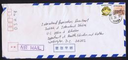 1978  Air Letter To USA   Sc 965, 1099 - Korea, South
