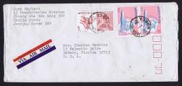 1976  Air Letter To USA   Sc C39 X2, 966, 638 - Corée Du Sud