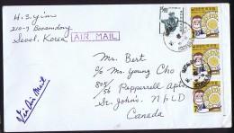 1967  Air Letter To USA   Sc 593 X3 Monkey And Oriental Zodiac - Korea, South