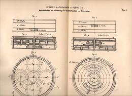 Original Patentschrift - Richard Rathsmann In Penig I.S., 1891 , Rechenmaschine Für Triebwerk , Schule , Instrument !!! - Maschinen