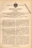 Original Patentschrift - Rieffenberg & Reichmann In Hannover Und L. Roloff In Linden , 1891 , Fußboden , Hochbau !!! - Architektur