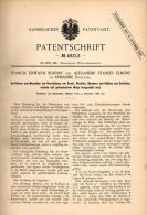Original Patentschrift - E. Elmore In Armaside , Cumbria , 1888 , Machine For Wire Production !!! - Tools