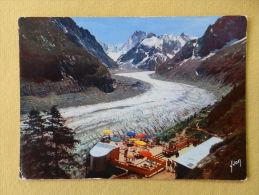 Dep 74 , Cpm CHAMONIX MONT BLANC , EKB.2775 , La Mer De Glace , La Plate Forme De Montenvers (601)Recto/verso - Chamonix-Mont-Blanc