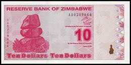 ZIMBABWE. 10 Dollars - 2009. Pick 94. UNC - Zimbabwe