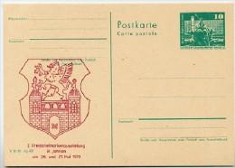 Wappen Jarmen 1979 DDR P79-7-79 C83 Postkarte PRIVATER ZUDRUCK - Sobres