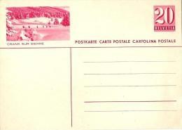 """PK 141  """"Crans Sur Sierre""""  (Fussgänger In Schneelandschaft)          1936 - Stamped Stationery"""
