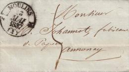 France 185 ?, Plié Lettre MOULINS à ANNONAY - France