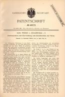 Original Patentschrift - Karl Weiser In Zeulenroda I.S., 1889 , Kehlmaschine , Holz , Kehlleiste , Tischlerei !!! - Maschinen