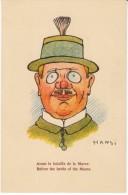 Hansi Artist Signed, 'Before The Battle Of The Marne', Funny Drawing Of Man, C1920s Vintage Postcard - Hansi
