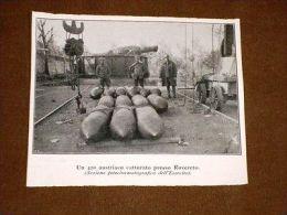 WW1 Prima Guerra Mondiale Del 1914-1918 Un 420 Dell'Austria Presso Rovereto - Autres Collections