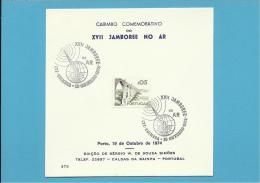 N.º 375 - PORTO 19.10.1974 - XVII JAMBOREE NO AR - CARIMBO COMEMORATIVO DE COIMBRA - PORTUGAL - Emissions Locales