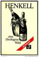 Reklame Werbeanzeige  -  Sekt Henkell Trocken  ,  Eine überlegte Wahl  ,  Von 1970 - Alkohol