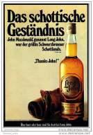 Reklame  -  Long John Scotch Whisky  -  Das Schottische Geständnis  -  Werbeanzeige Von 1973 - Alkohol