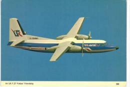 Thème -  Avion - Charles Skilton´s Postcard 398 - AIr IK F27 Fokker Friendship - 1946-....: Moderne