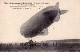 """Aviation..Dirigeable..""""Patrie""""..très Animée..atterissage à Verdun..Départ De Chalais-Meudon..en 1907 - Dirigeables"""