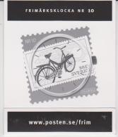 Sweden Stamp Watch - Briefmarken Uhr - Nr. 10 - Bicycle - 2011 - Juwelen & Horloges