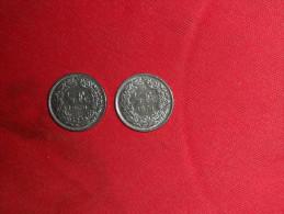 Lot 2 Monnaies/1/2 Franc / Suisse De1969 Et 1970 En  TTB.+ - Suiza