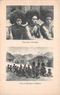 ¤¤  -  PAPOUASIE - NOUVELLE-GUINEE  -  Carte Avec 2 Vues  -  Types De La Montagne  -  Indigènes  -  ¤¤ - Papouasie-Nouvelle-Guinée