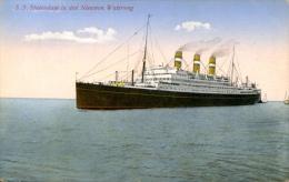 AK T.S.S. Statendam 1930 Im Nieuwen Waterweg TSS Schiff Dampfer Ship Steamer HAL Holland Amrika Linie - Paquebots